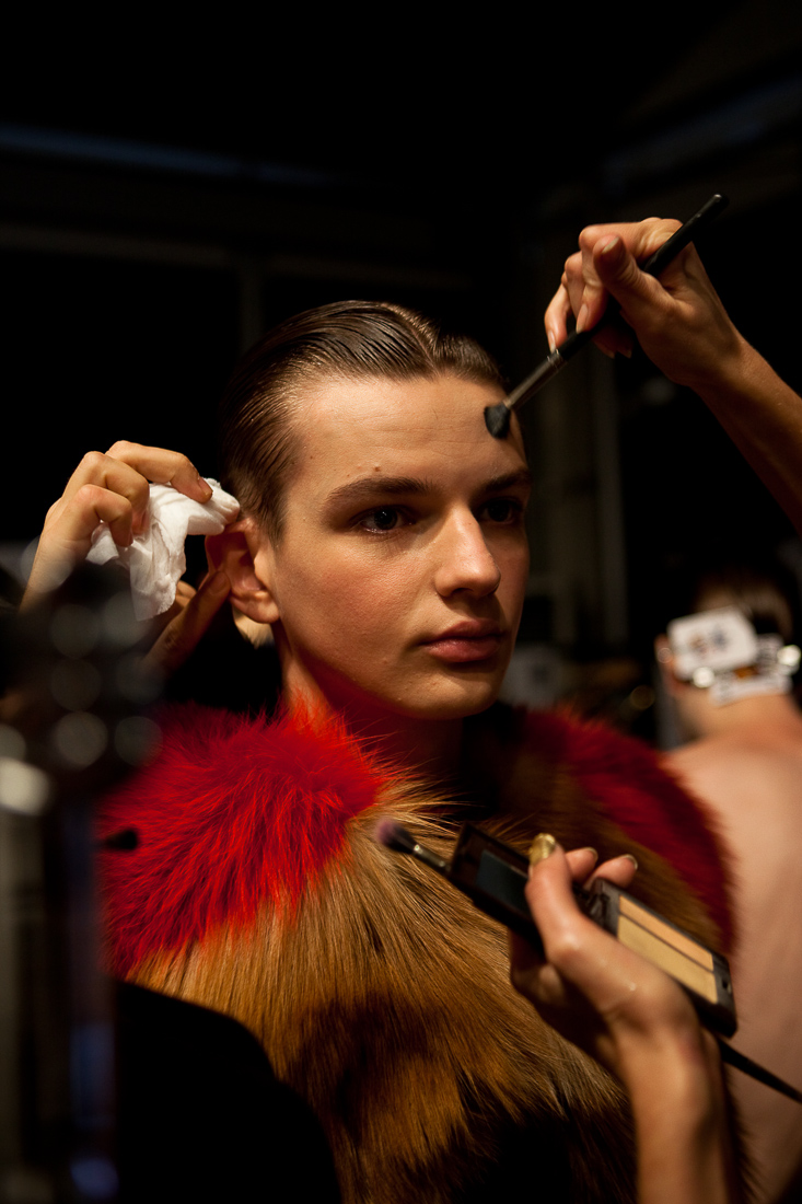 LFW backstage photography by Peter Jackson