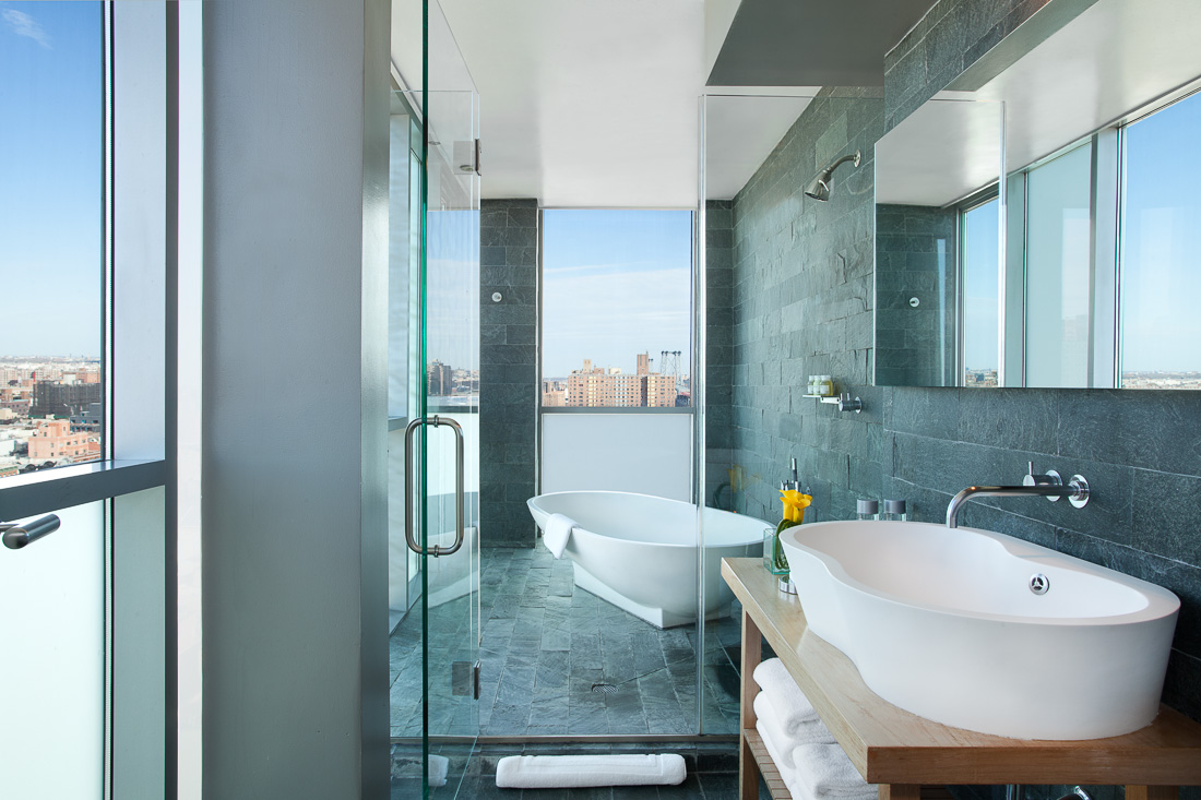 Hotels with luxury bathrooms uk - Bathroom With A View At The Luxury Hotel On Rivington New York Hotel Photography