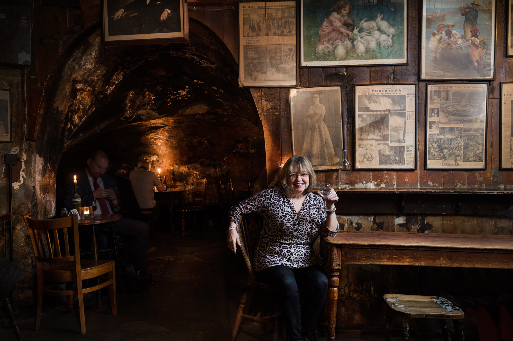 Irma from Gordon's Wine Bar, the oldest wine bar in London. Irma has 22 years' experience.