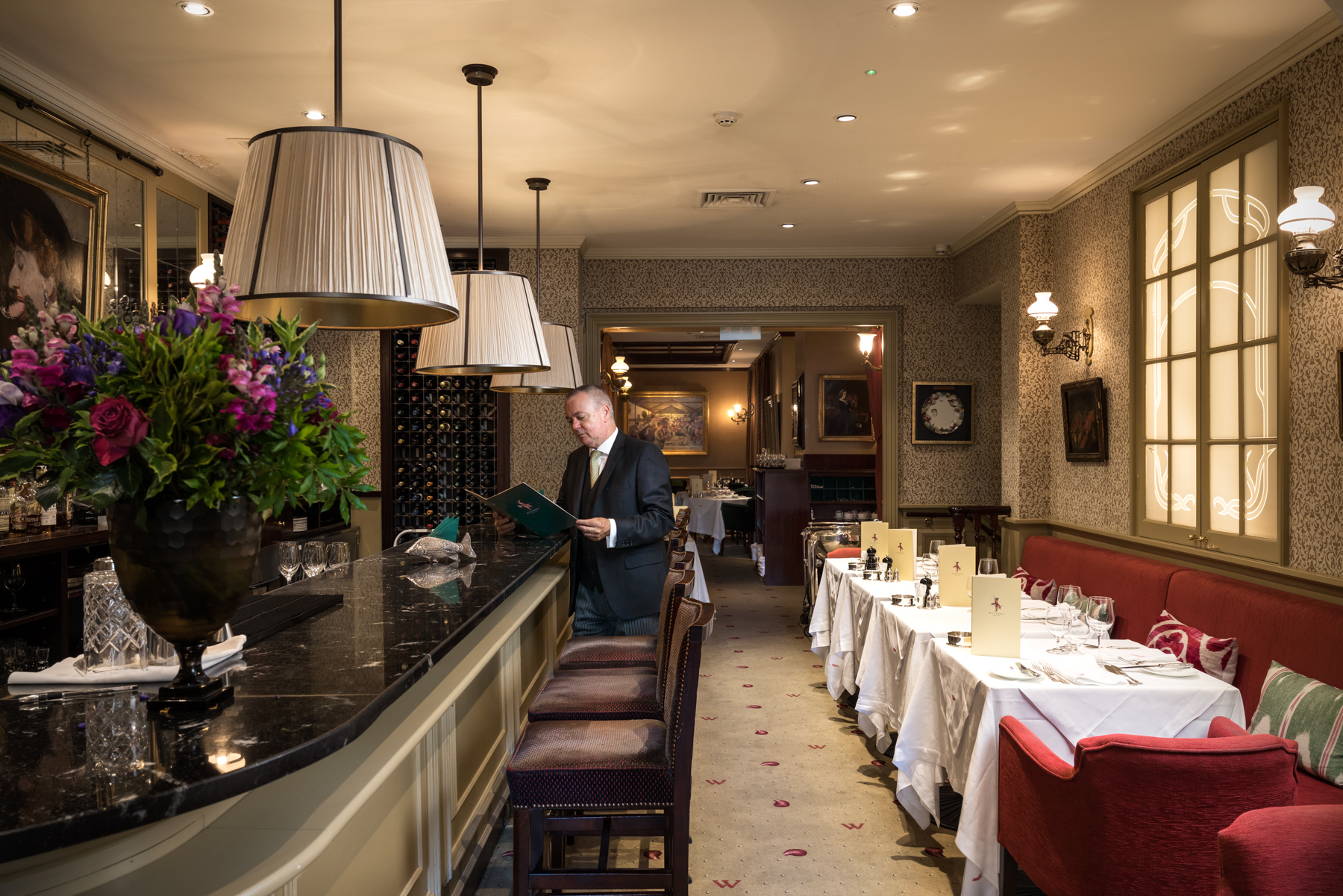 Michael has been at the establishment restaurant, Wiltons, for 21 years.