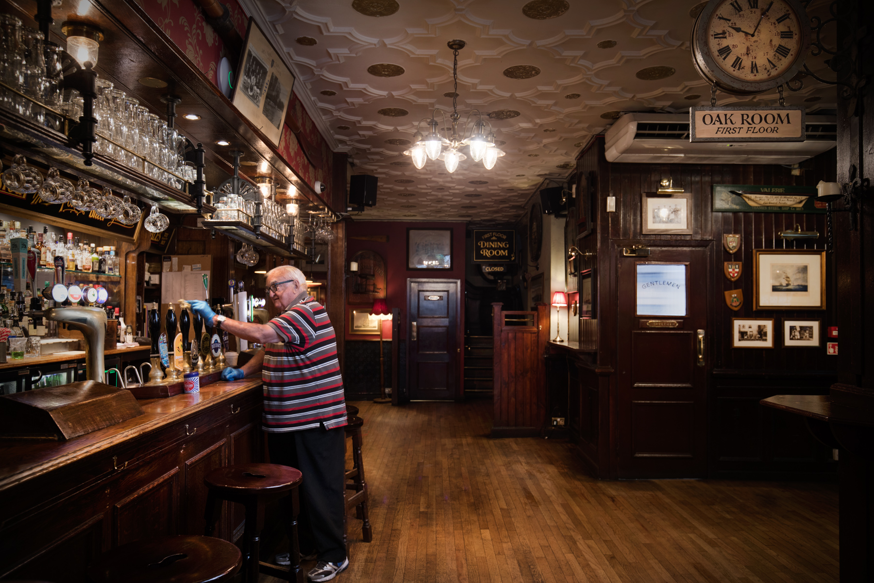 Gino has been looking after The Stafford Hotel's wine cellars for 42 years.