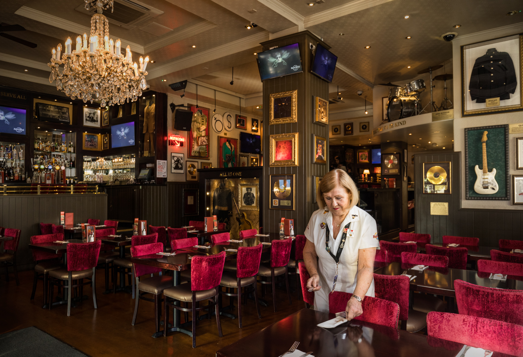 Delia was one of the first employees at the first Hard Rock Cafe restaurant in London. She's been there 47 years.