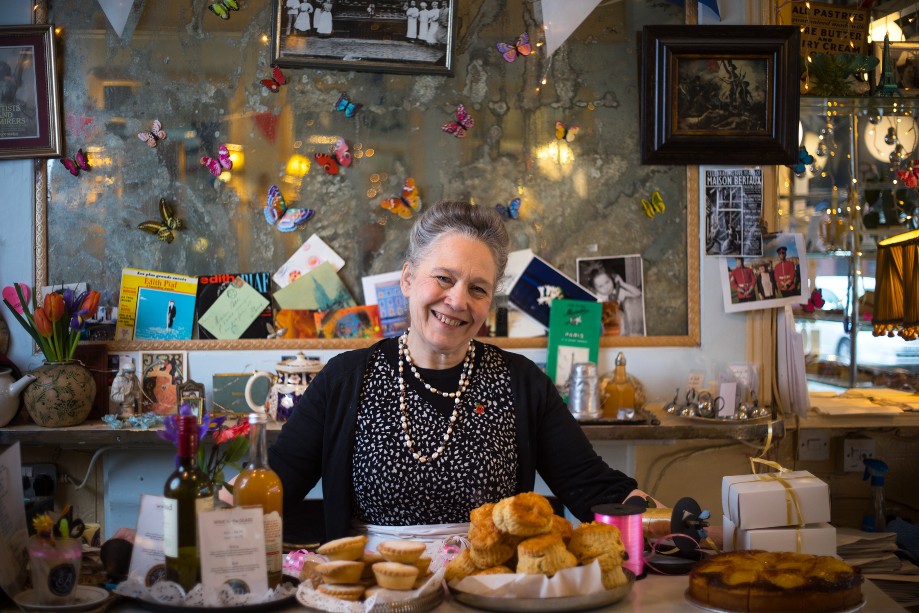 Michele started as a Saturday girl at Soho's Maison Bertaux in 1975 and has been there ever since.