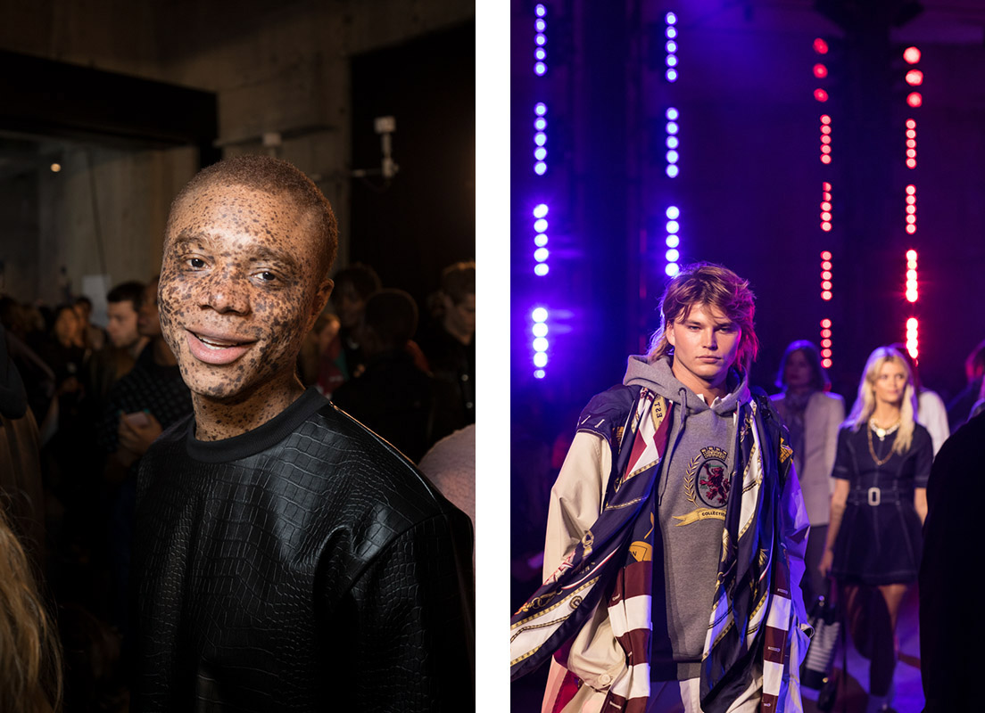 London Fashion Week Tommy Hilfiger Show,, LFW backstage photography by Peter Jackson
