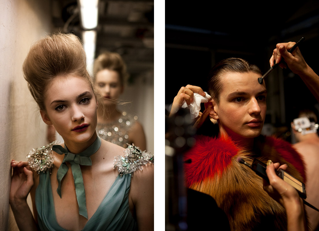 London Fashion Week, LFW backstage photography by Peter Jackson