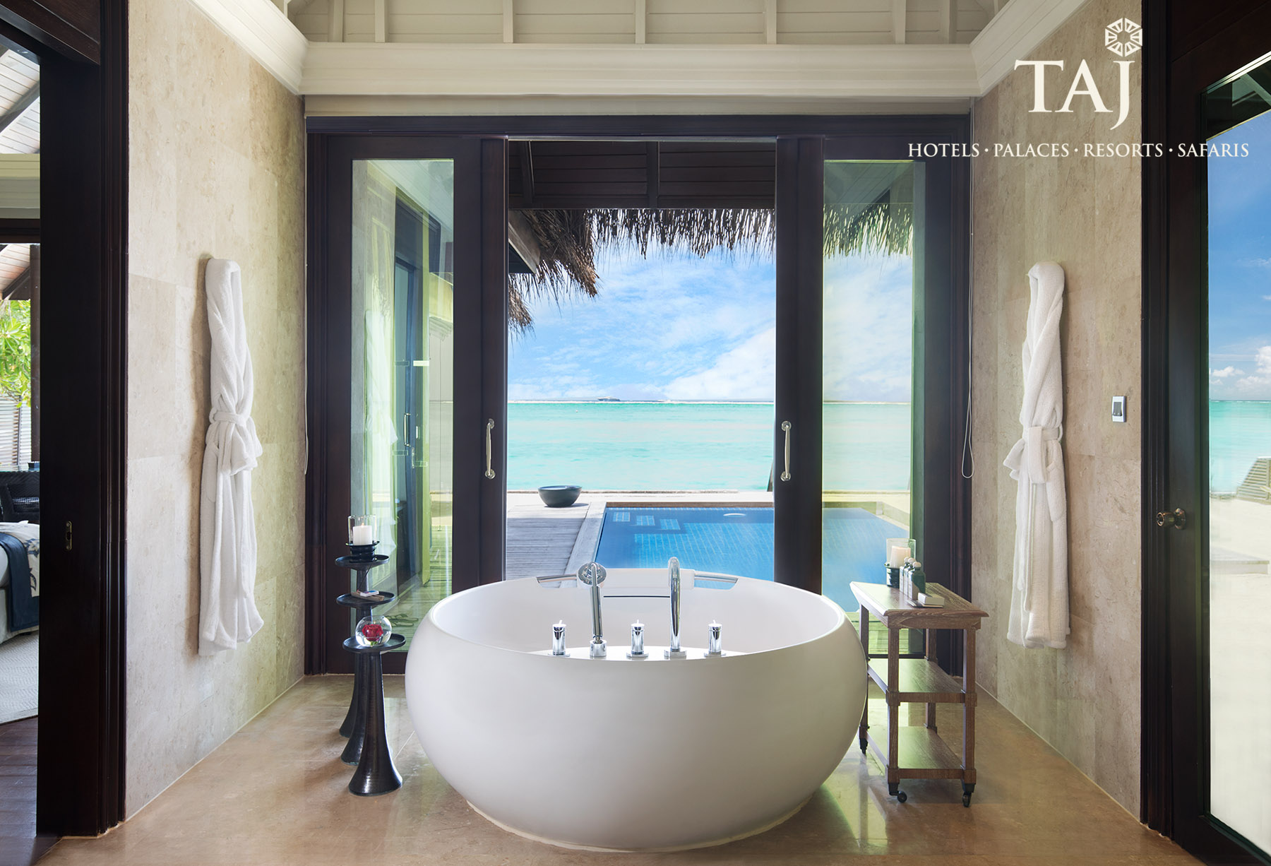 Interiors shoot at Taj Exotica Resort, Maldives, by Peter Jackson