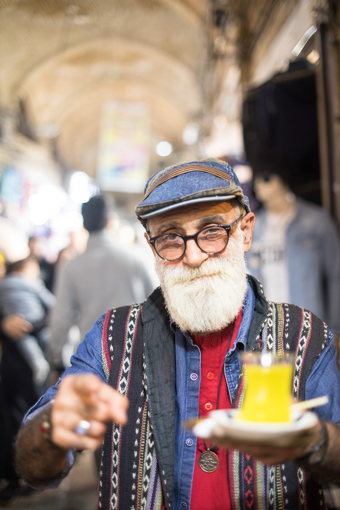 Portrait from Tehran's coffee scene by Peter Jackson.